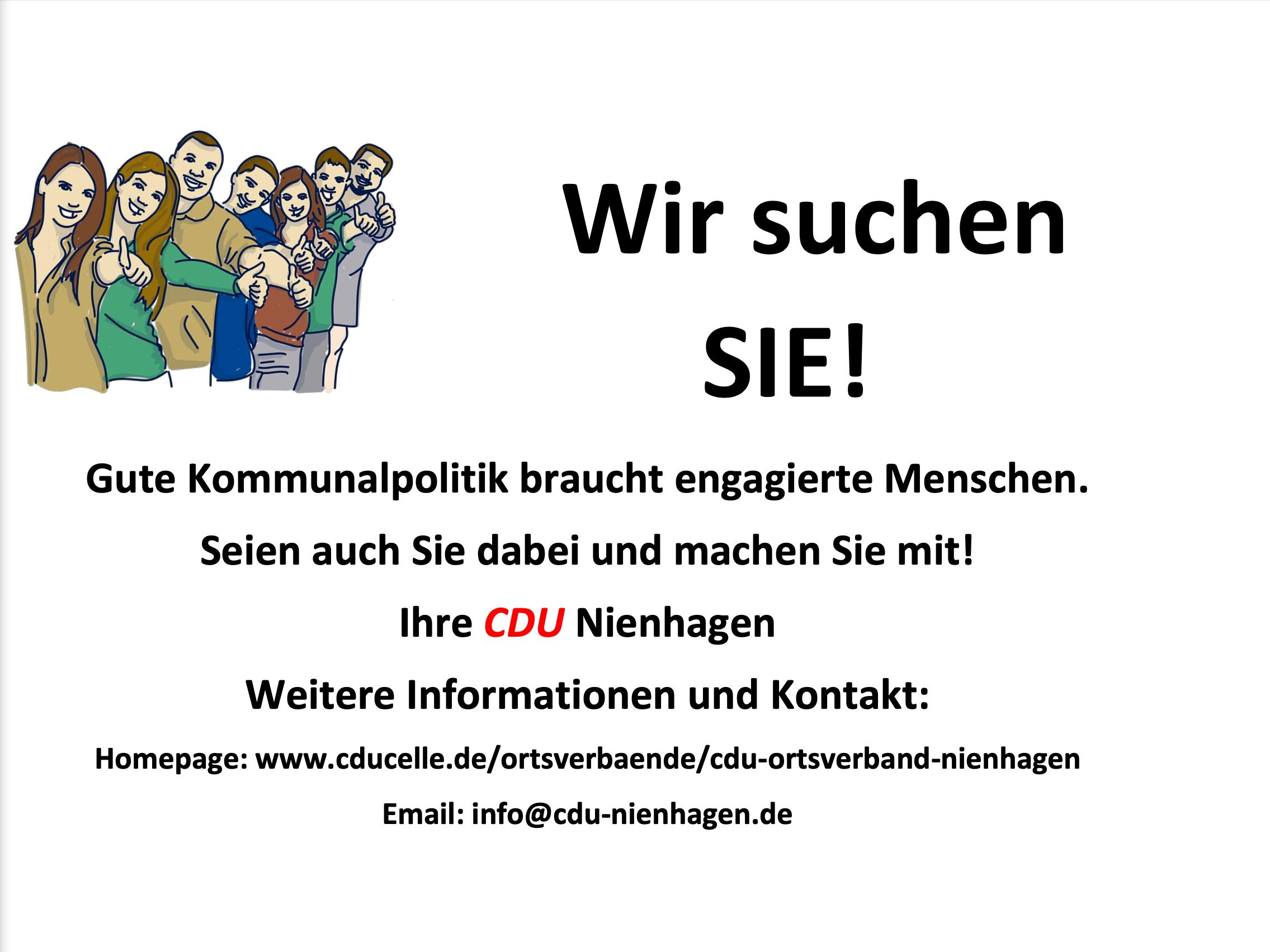 CDU Nienhagen sucht Sie