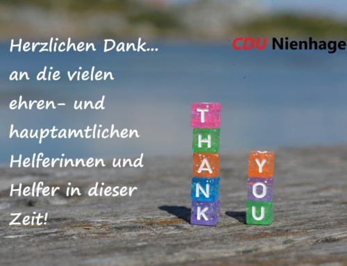 Die CDU Nienhagen bedankt sich