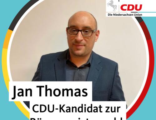CDU Eschede nominiert Jan Thomas als Bürgermeisterkandidaten