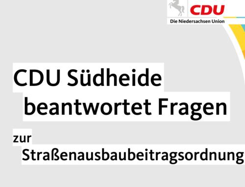 CDU Südheide beantwortet Fragen zur STRABS