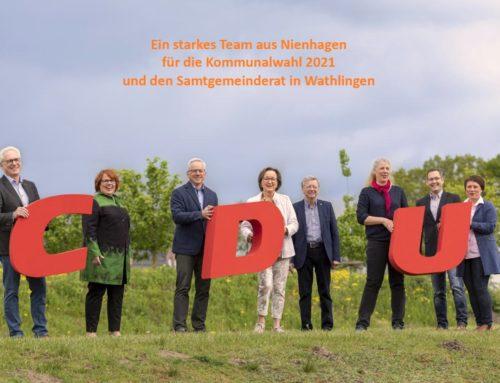 5 Frauen und 5 Männer für die CDU Nienhagen in den Samtgemeinderat in Wathlingen